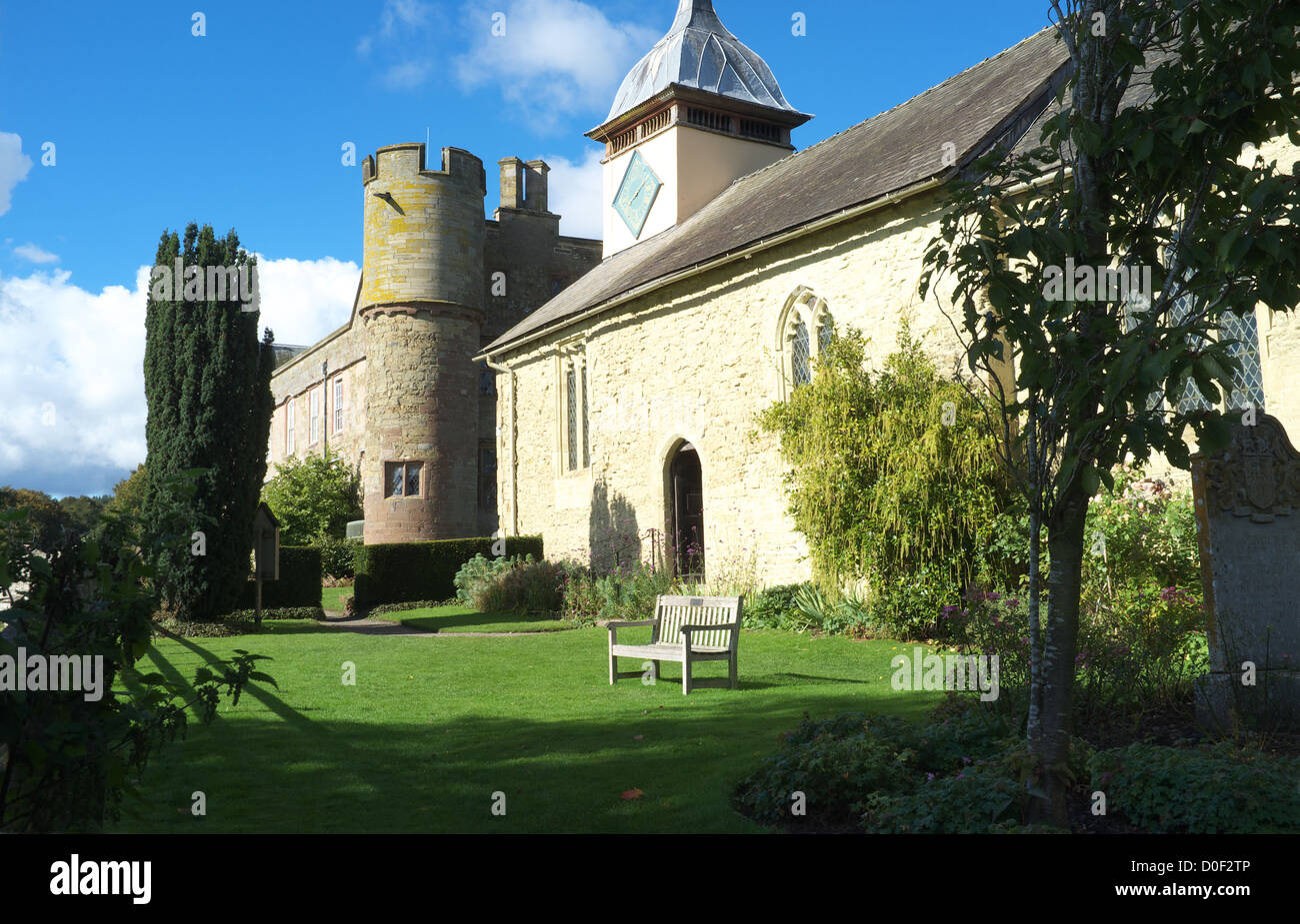 St Michael's Church and Croft Castle, Herefordshire, England, UK - Stock Image