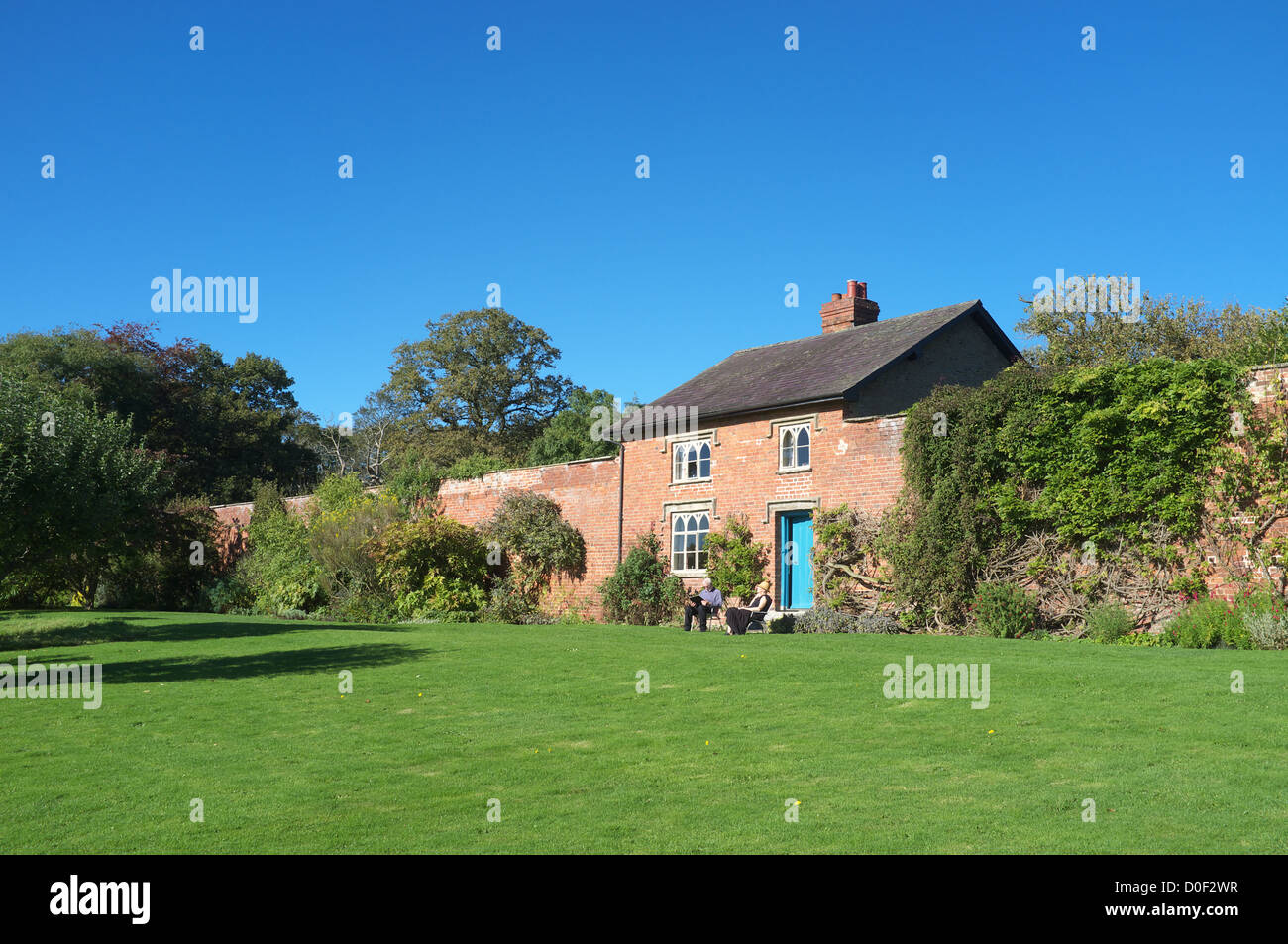 Gardeners cottage in the walled garden, Croft Castle, Herefordshire, England, UK - Stock Image