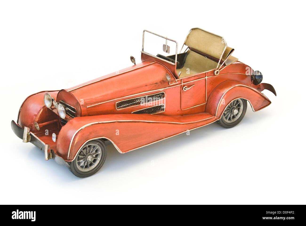red oldtimer model - Stock Image