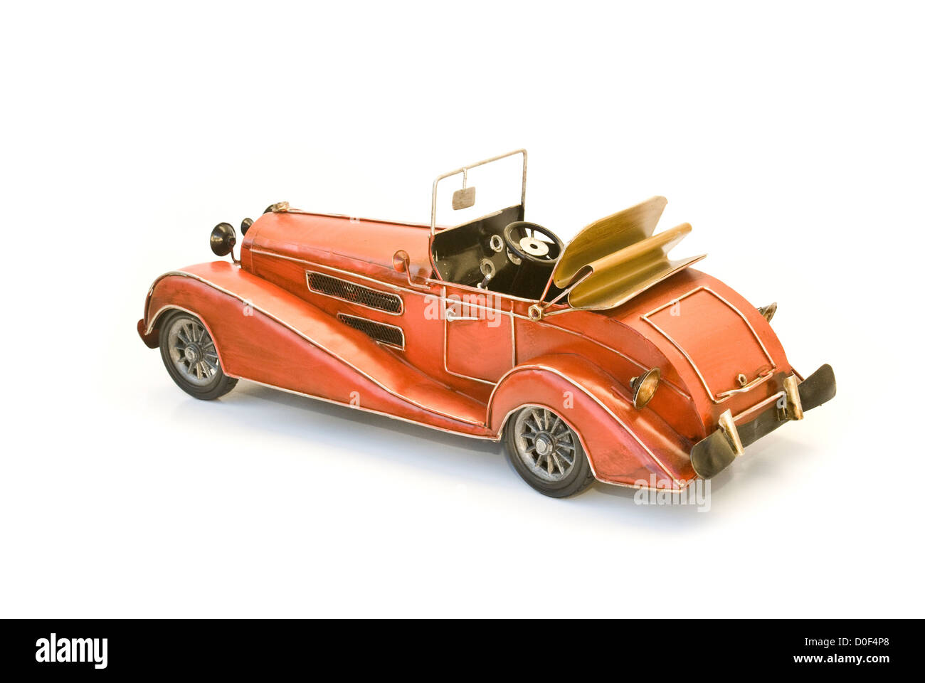 back of red oldtimer model - Stock Image