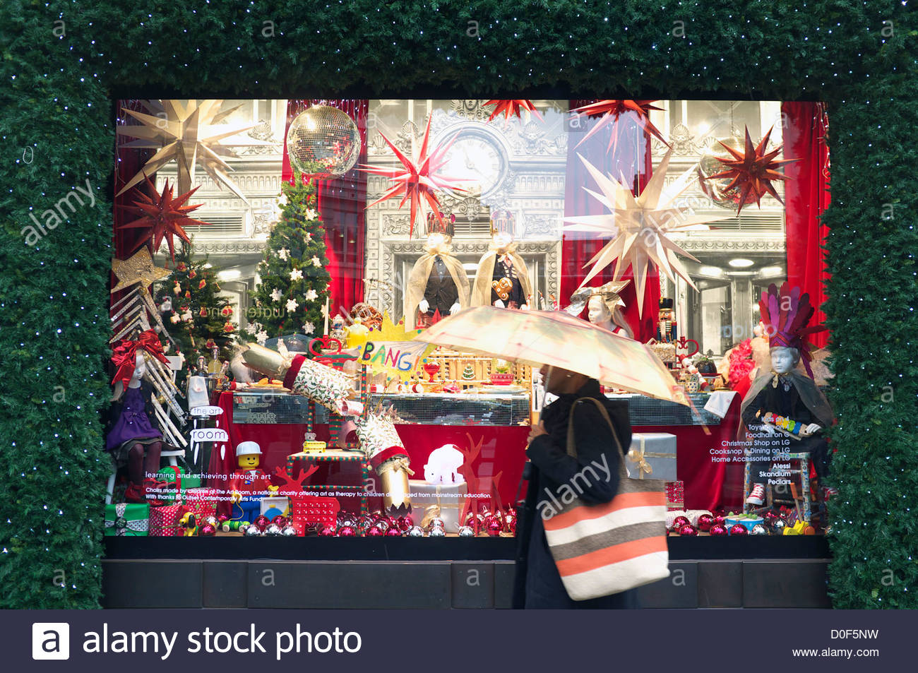 hot new products new high quality classic styles Selfridge's department store Christmas display window ...