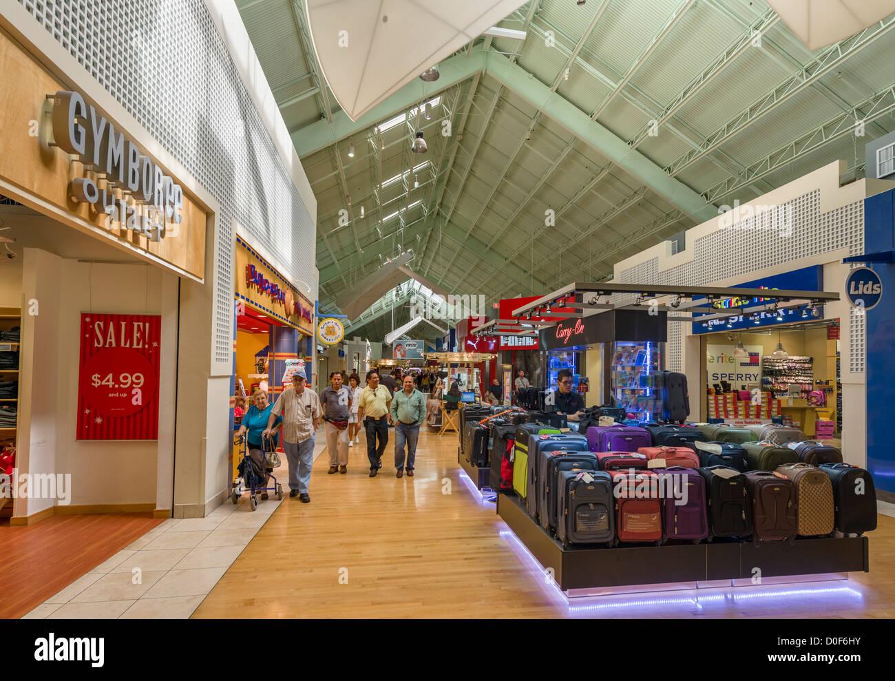 Interior of the Sawgrass Mills shopping mall, Sunrise, Broward County, Florida, USA - Stock Image