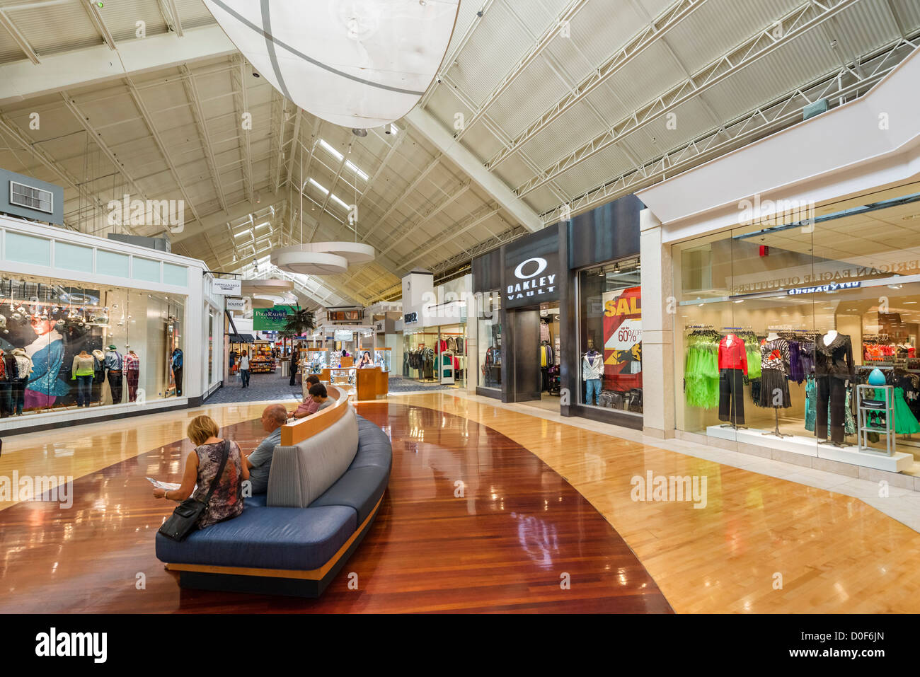 Interior of the Sawgrass Mills shopping mall, Sunrise, Broward County, Florida, USA - Stock Image