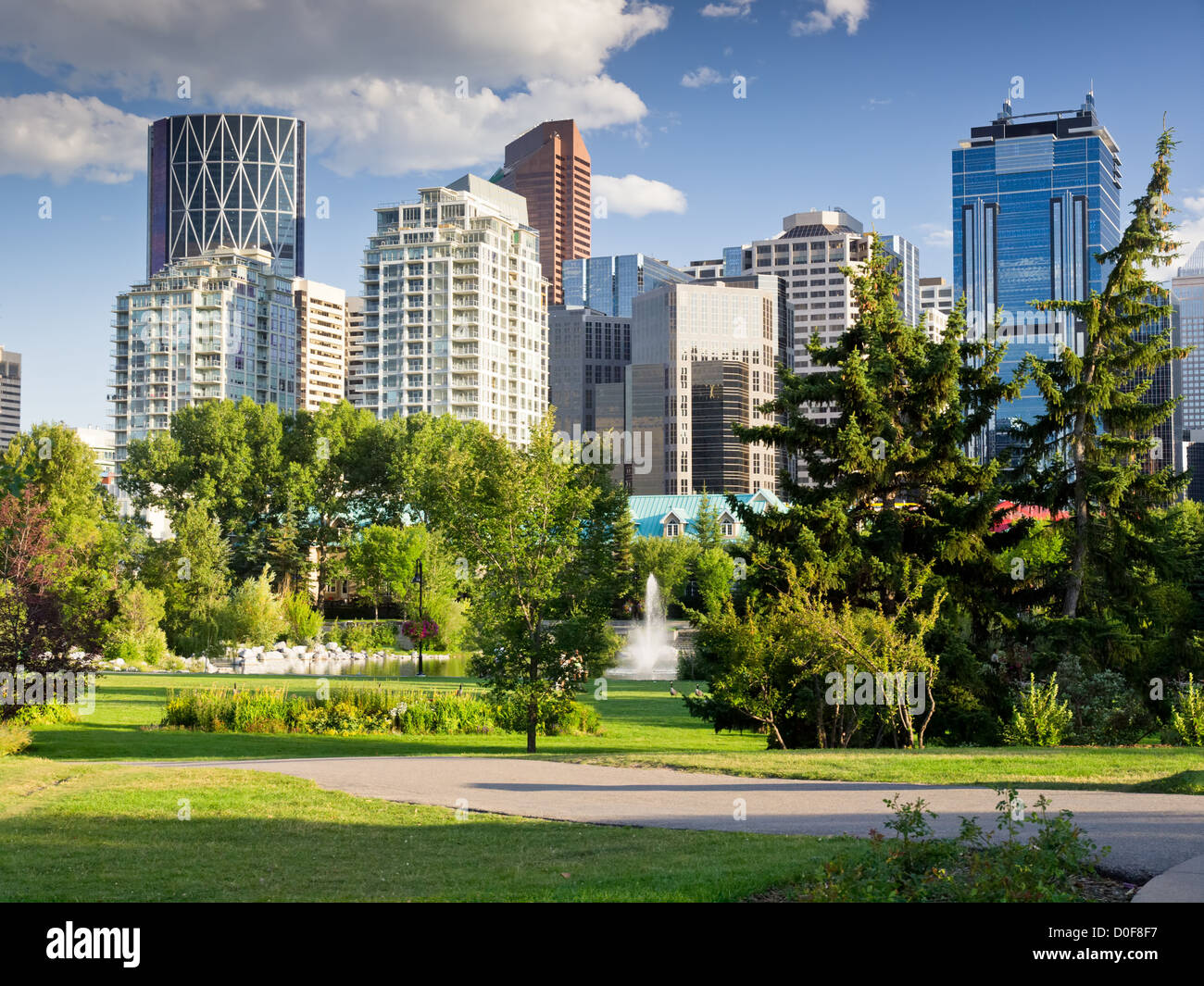Downtown Core of modern city Stock Photo