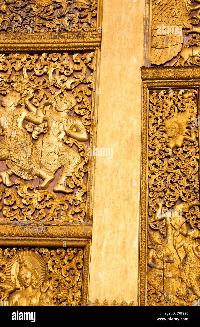 Ornate Wooden Asian Furniture Carving Stock Photos & Ornate Wooden ...