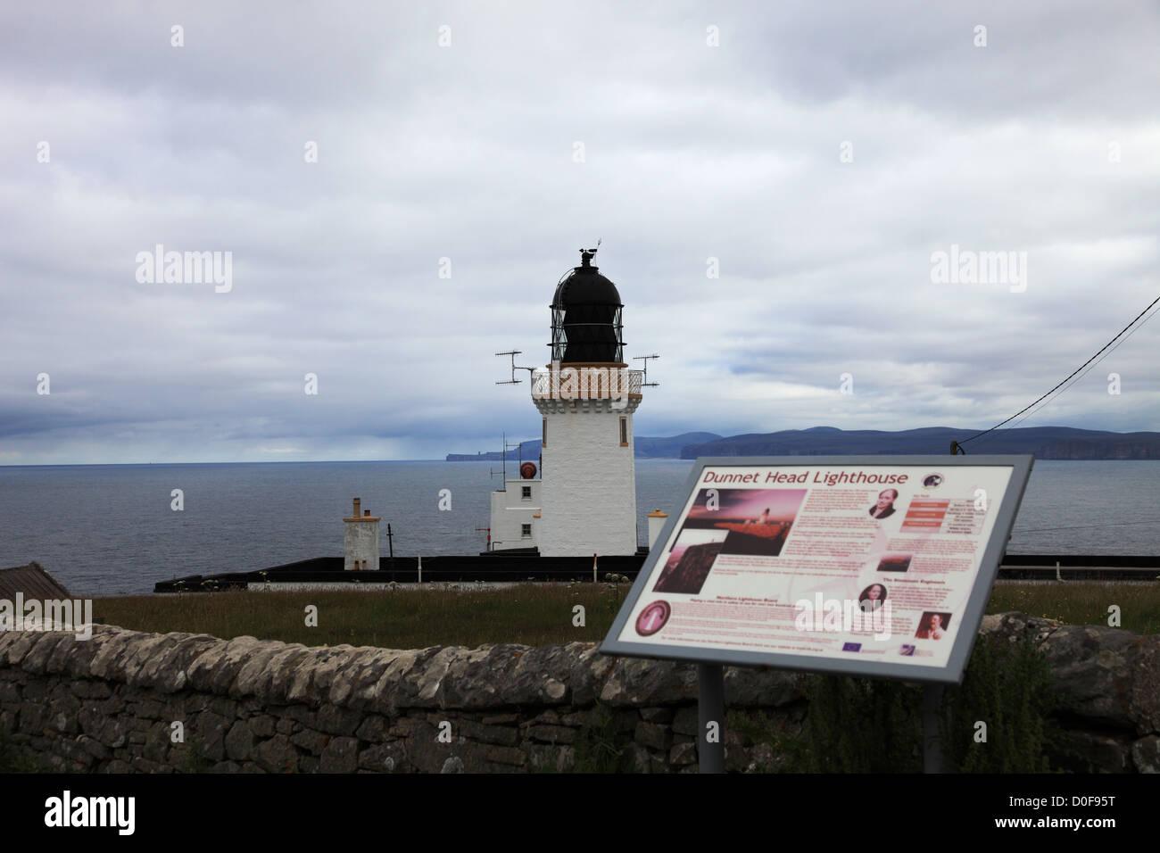 Dunnet Head lighthouse, Scotland UK - Stock Image