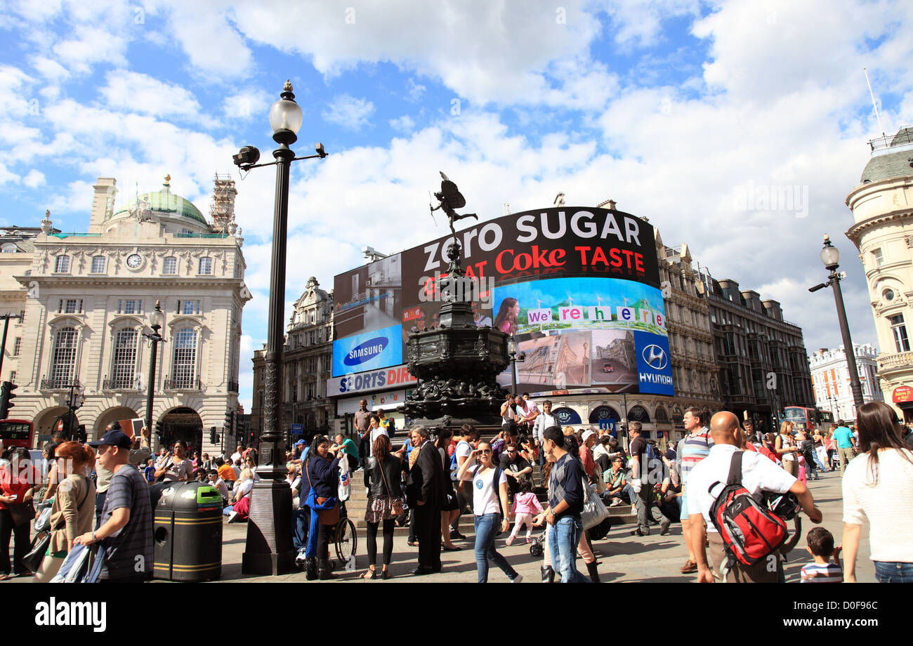 Picadilly Circus, London, England UK - Stock Image