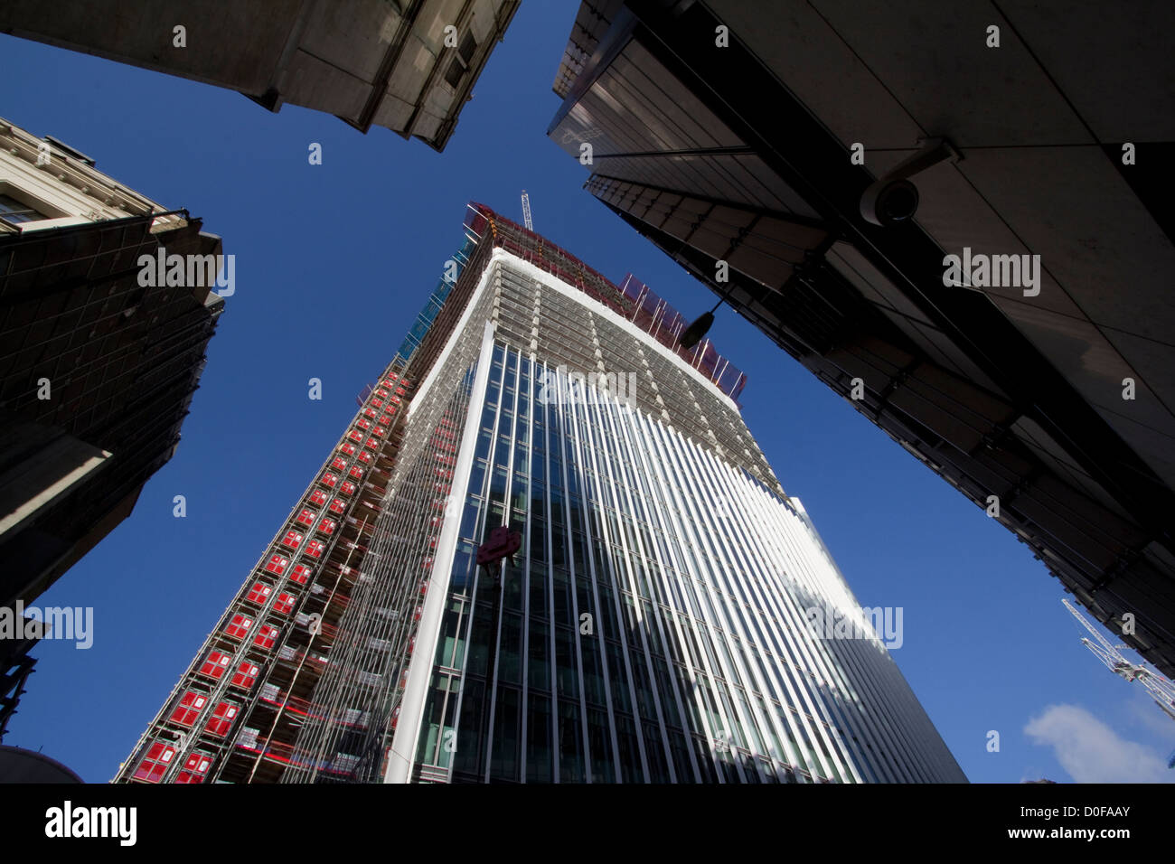 20 Fenchurch Street skyscraper under construction on Fenchurch Street in London. aka Walkie-Talkie and the Pint - Stock Image