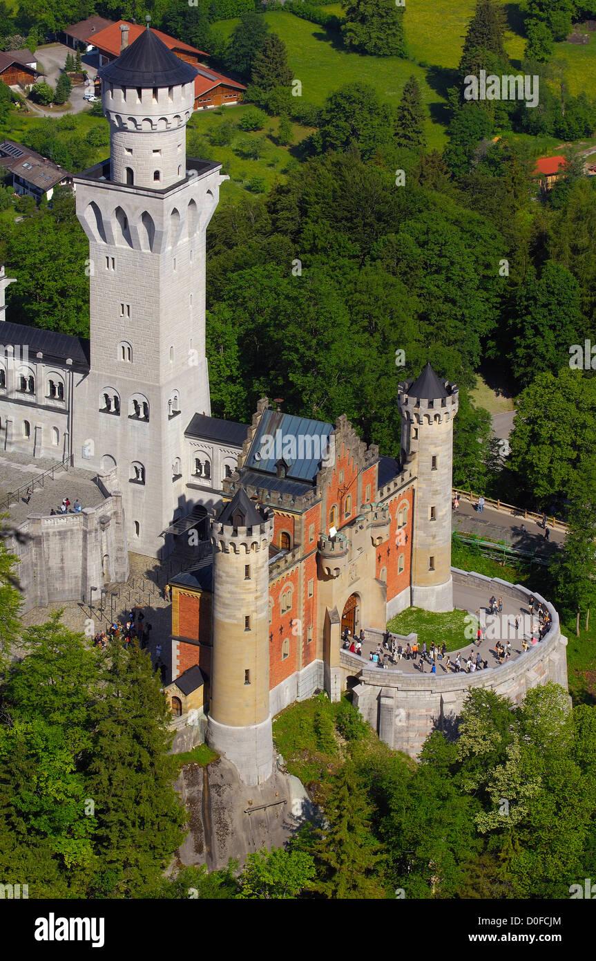Neuschwanstein Castle; Schloss Neuschwanstein; Allgau; Fussen; Allgaeu; Fuessen; Romantic Road; Romantische Strasse; - Stock Image