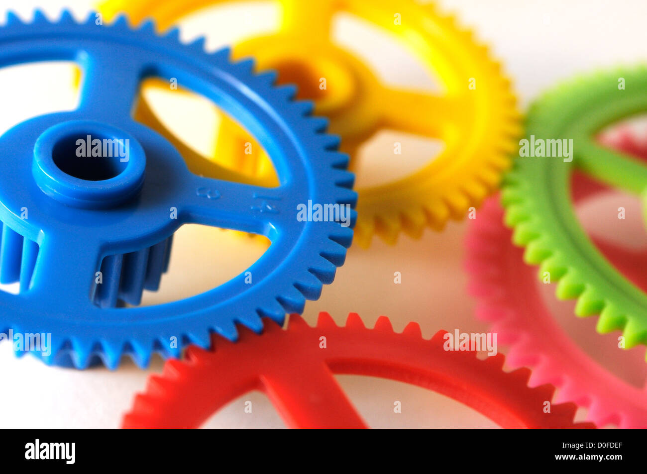 gearing colored, merger, mechanism, gears - Stock Image