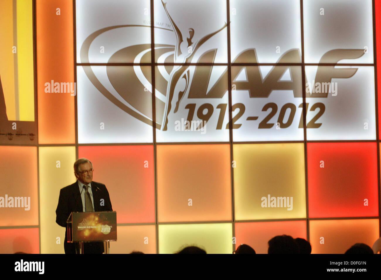 November 24th, Barcelona, Spain. IAAF, International Association of Athletics Federations, celebrates the 2012 World - Stock Image