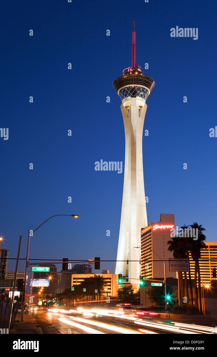 The Stratosphere Hotel and Casino, Las Vegas - Stock Image