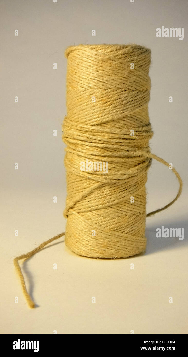 rope, all tied, case closed, ball of string, pulls the cord - Stock Image
