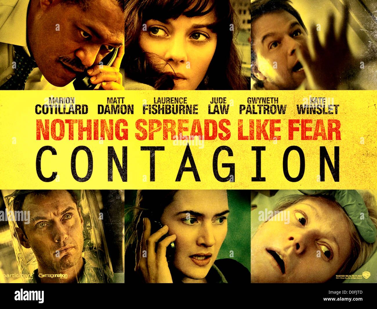 CONTAGION  Poster for 2011 Warner Bros film - Stock Image