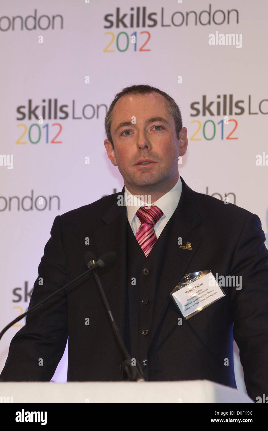 London, England, UK. Friday, 23 November 2012. Pictured: Robert Ellice of Clarke Hillyer, Employer Ambassador. London Stock Photo