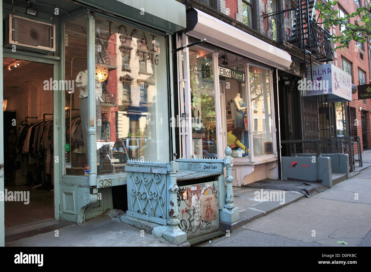 9th Street, Shops, East Village, Manhattan, New York City, USA - Stock Image
