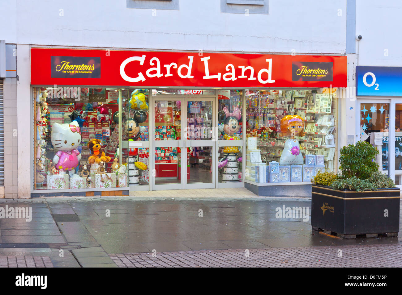 Entrance to card land showing shop window display of gifts and entrance to card land showing shop window display of gifts and greetings cards airdrie north lanarkshire scotland m4hsunfo