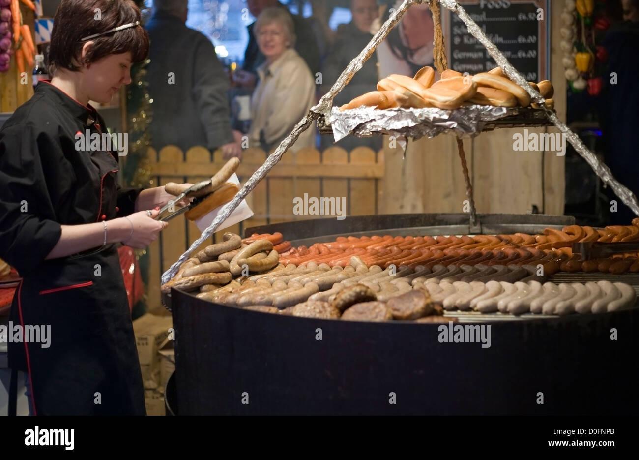 Manchester christmas market - Stock Image