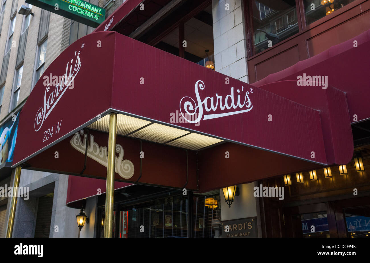 Sardi 39 s famous restaurant in new york city stock photo for Famous cities in new york