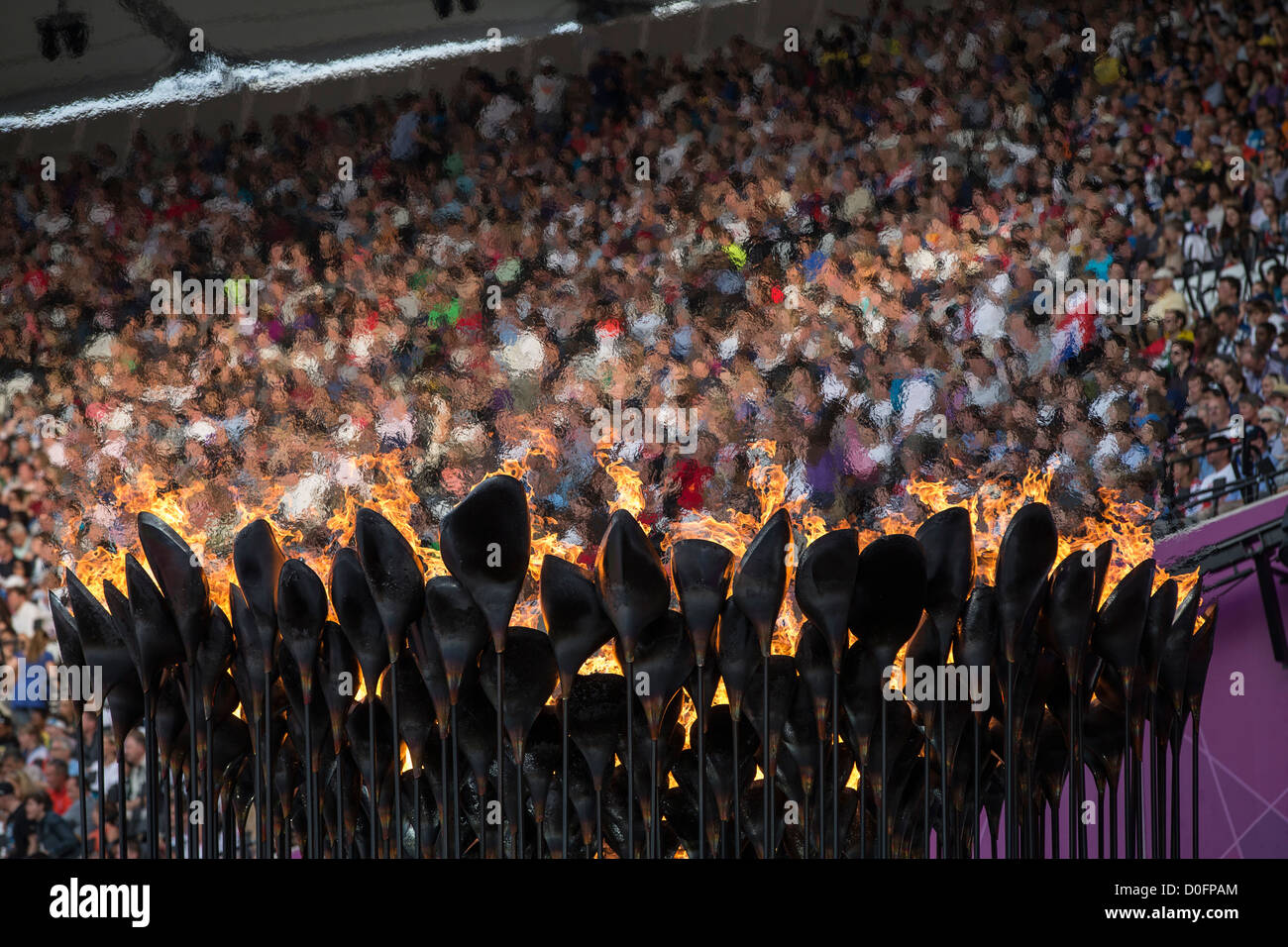 The Olympic Flame at the Olympic Summer Games, London 2012 - Stock Image