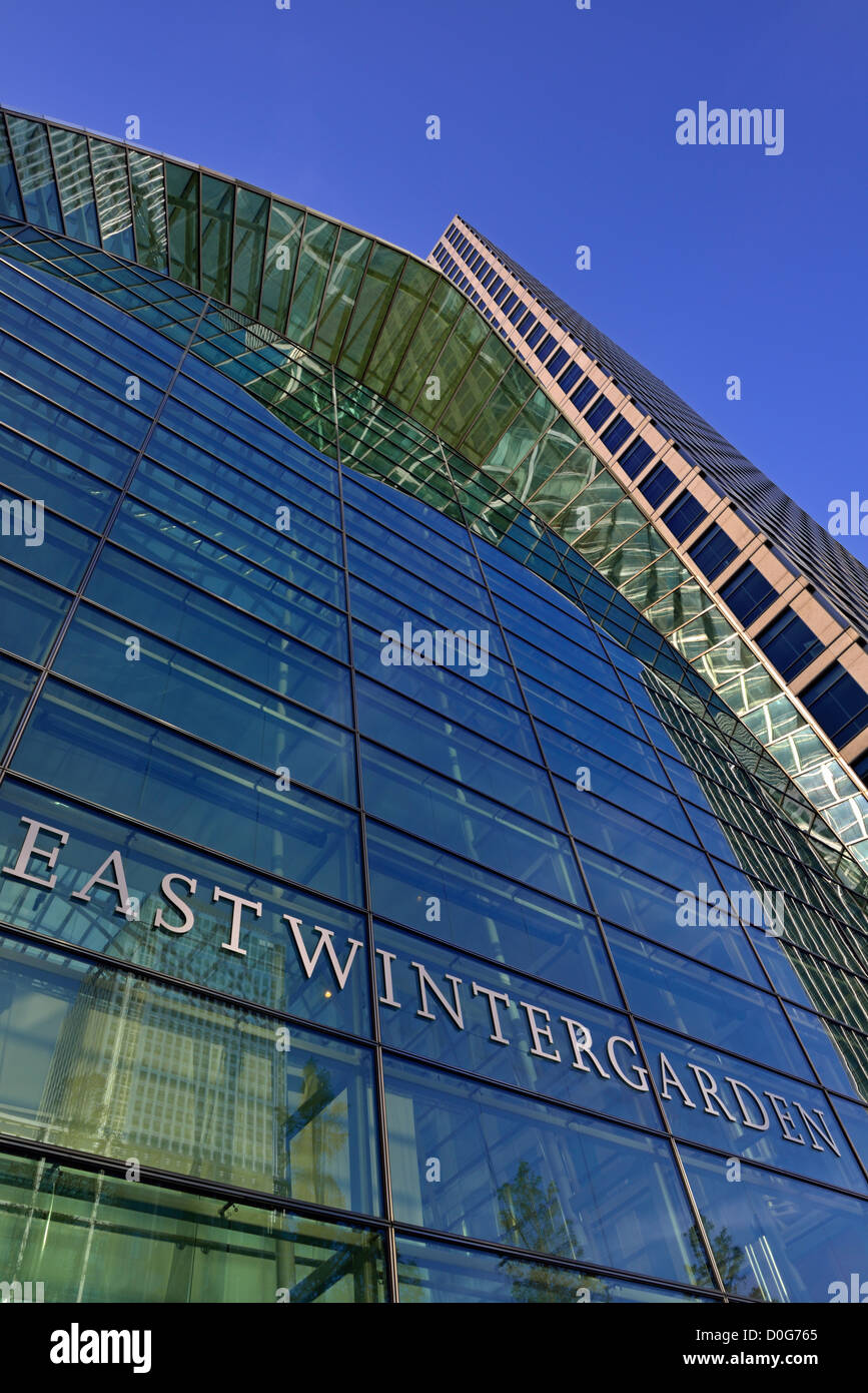East Wintergarden, 43 Bank Street, Canary Wharf, London E14, United Kingdom - Stock Image