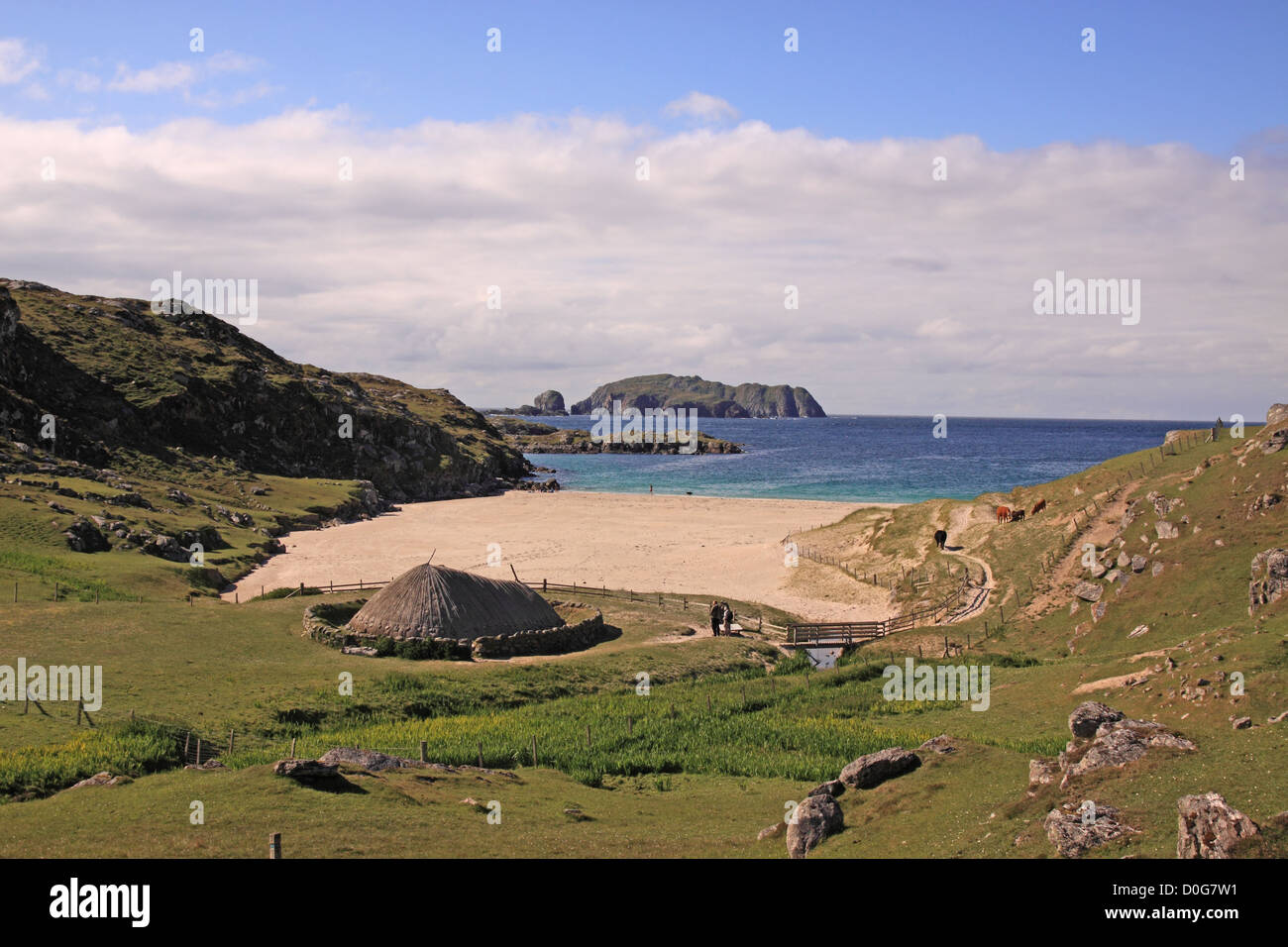 UK Scotland Outer Hebrides Isle of Lewis Great Bernery Iron Age settlement at Bosta at - Stock Image