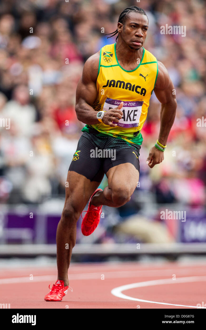 Yohan Blake (JAM) competing in the Men's 100m 1st round at the Stock Photo: 51988820 - Alamy