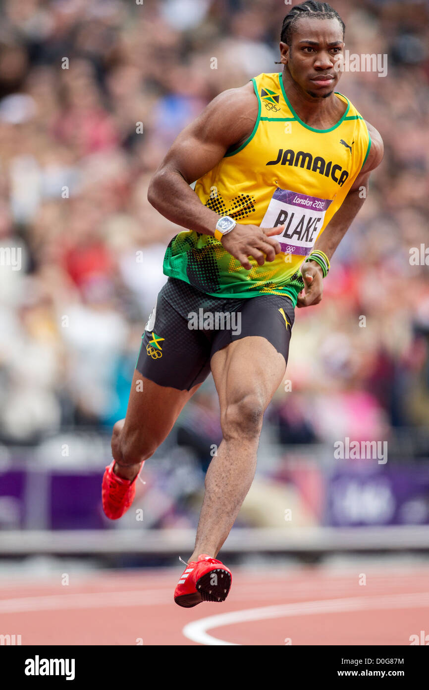 Yohan Blake (JAM) competing in the Men's 100m 1st round at the Stock Photo: 51988824 - Alamy