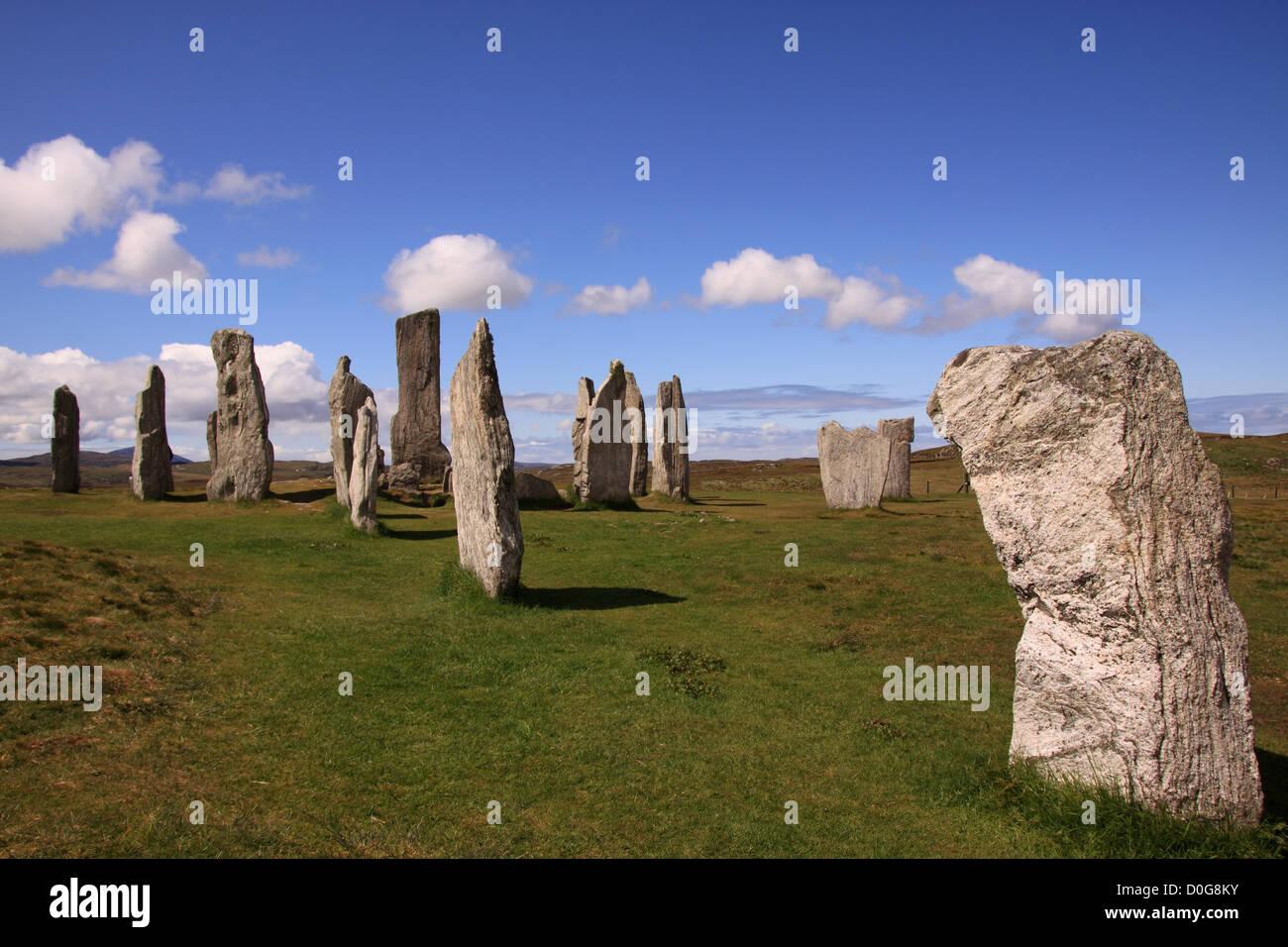 UK Scotland Outer Hebrides Isle of Lewis Callanish Standing Stones - Stock Image