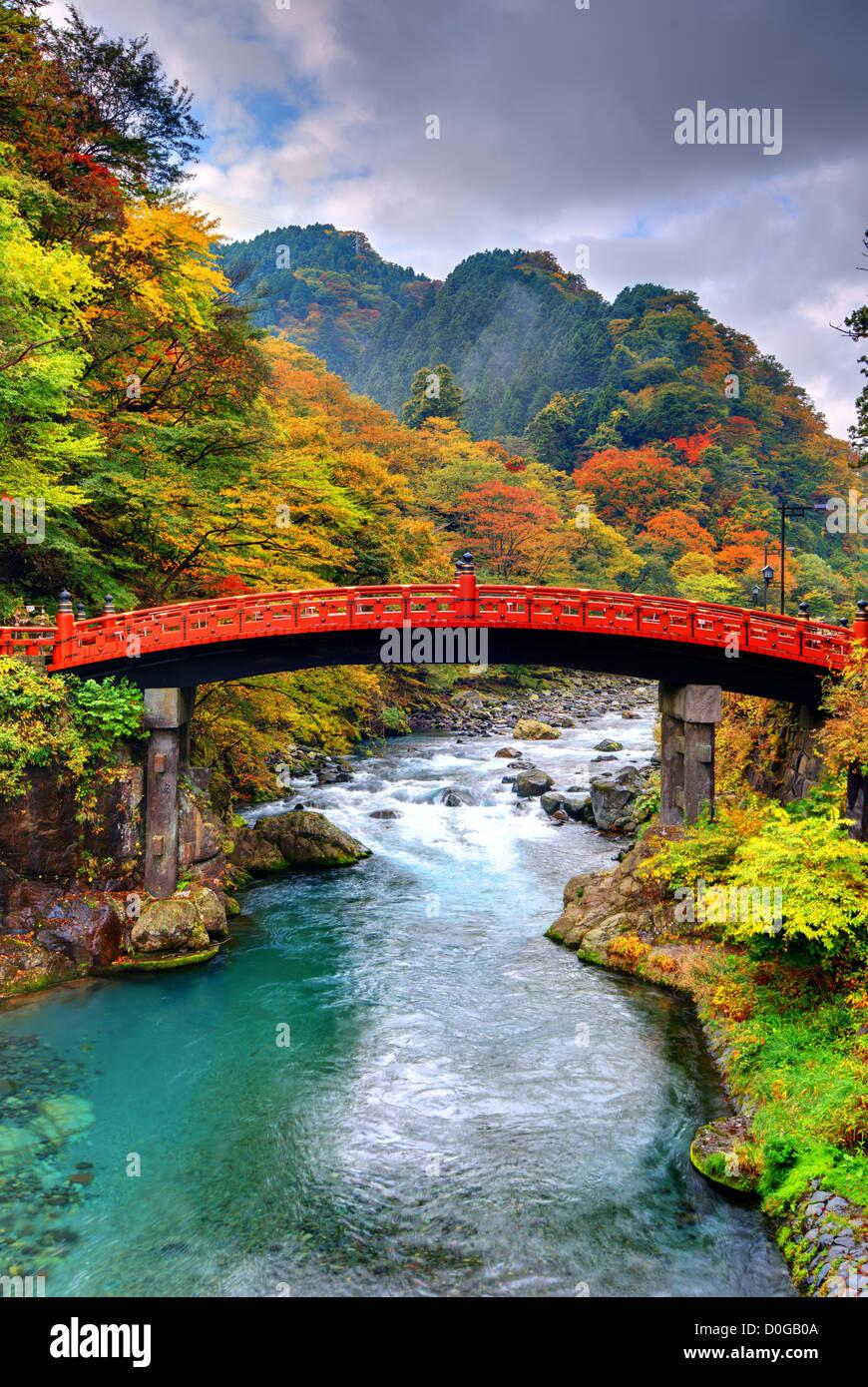 Shinkyo Bridge in Nikko, Japan. - Stock Image