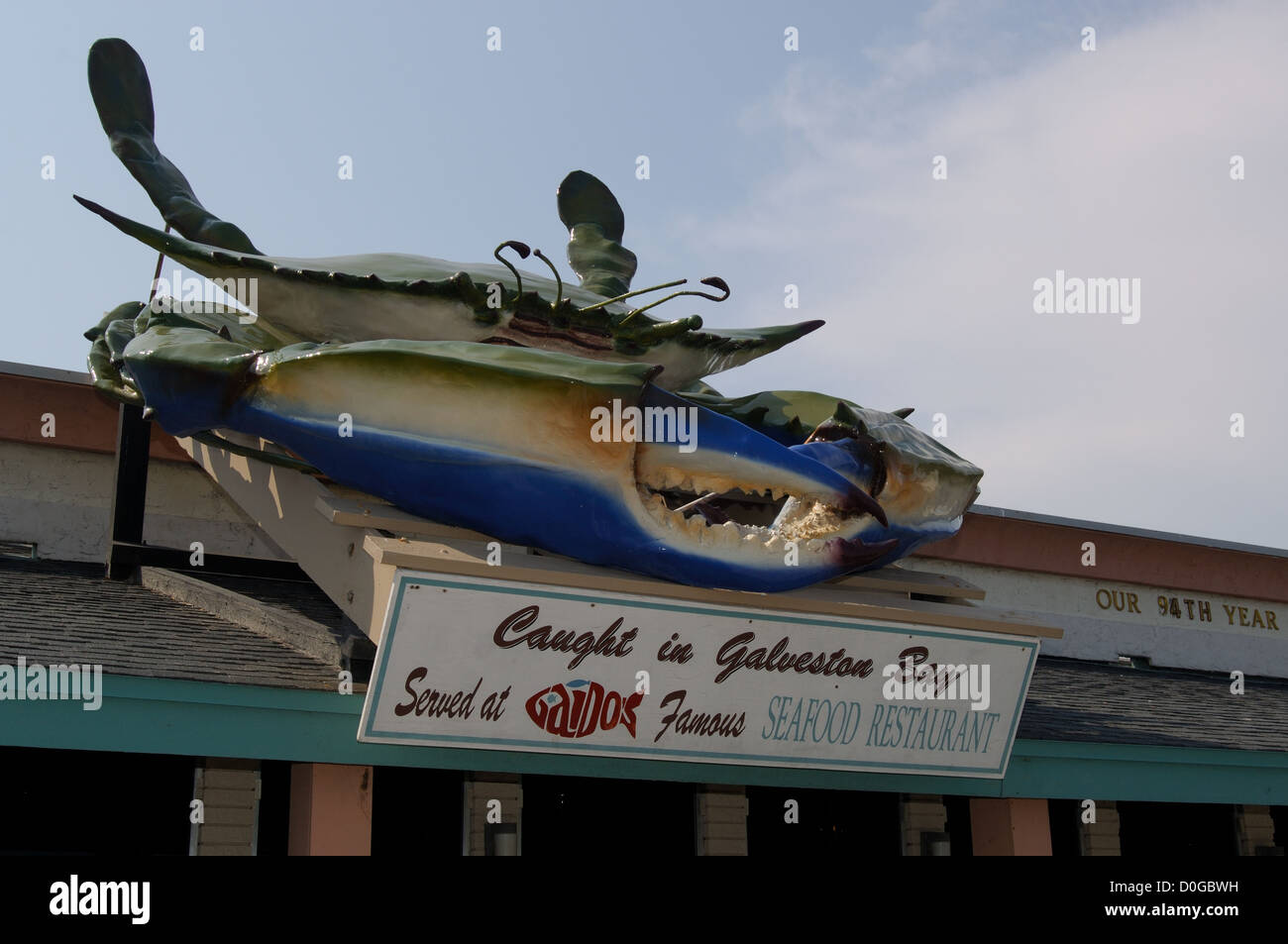 Famous Blue Crab Sign At Gaido S Seafood Restaurant In