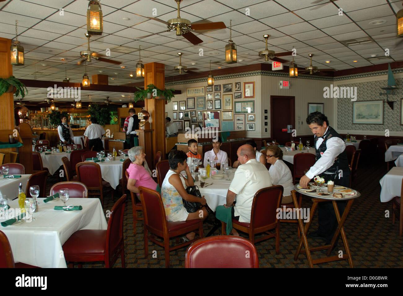Main Dining Room At Gaido S Seafood Restaurant In Galveston