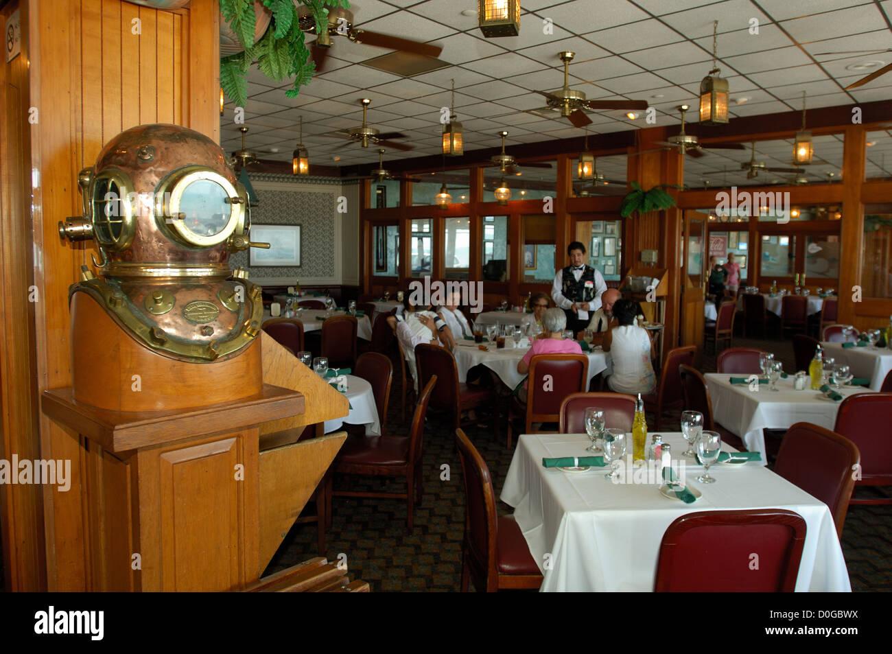 Dining Room At Gaido S Seafood Restaurant In Galveston Texas