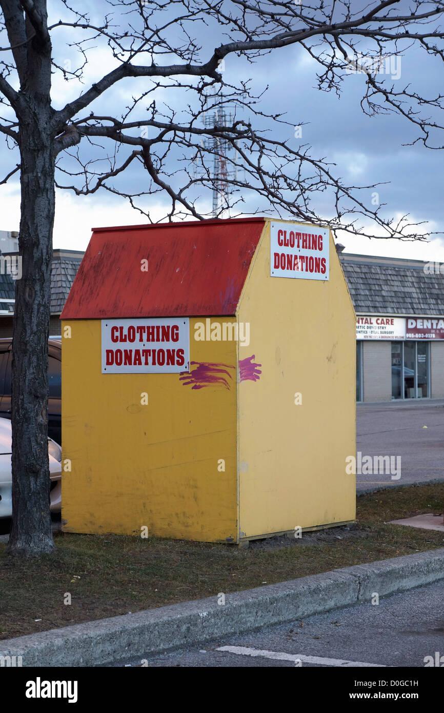 Clothing Donations Bin - Stock Image