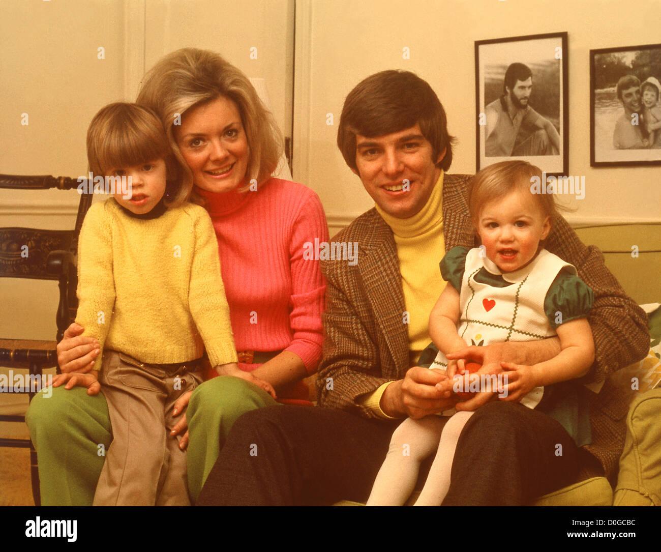 Vintage 1970's Family Portrait - Stock Image