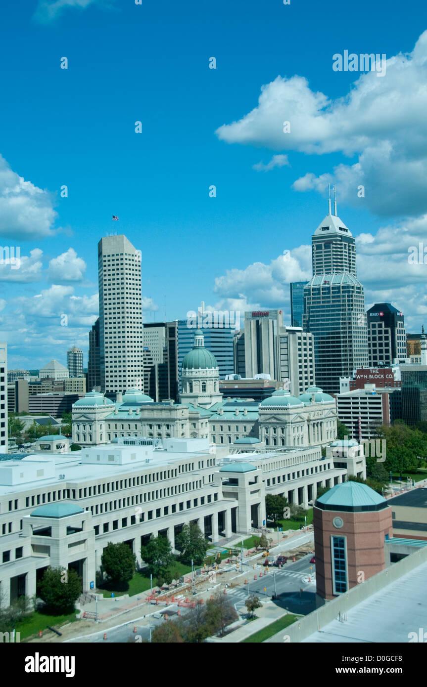 USA, Indiana, Indianapolis skyline. - Stock Image
