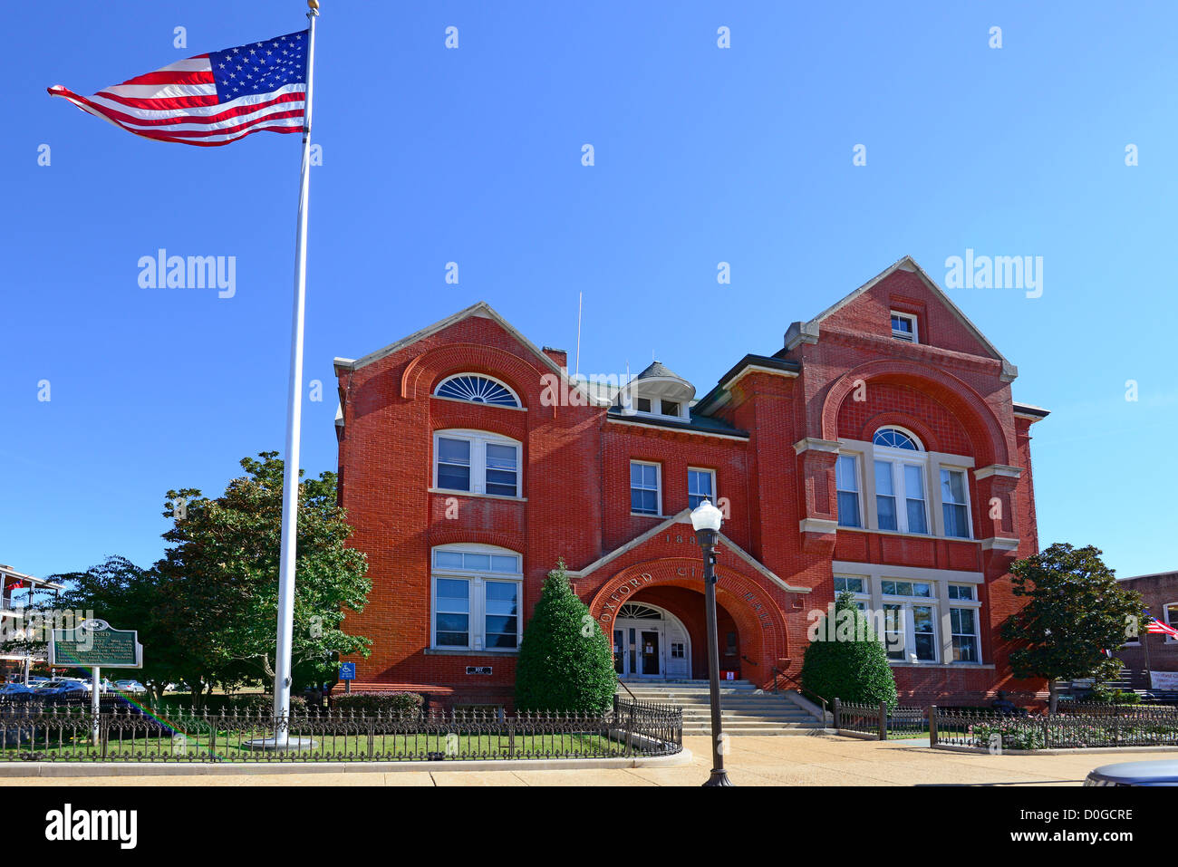 Oxford Mississippi City Hall MS USA - Stock Image