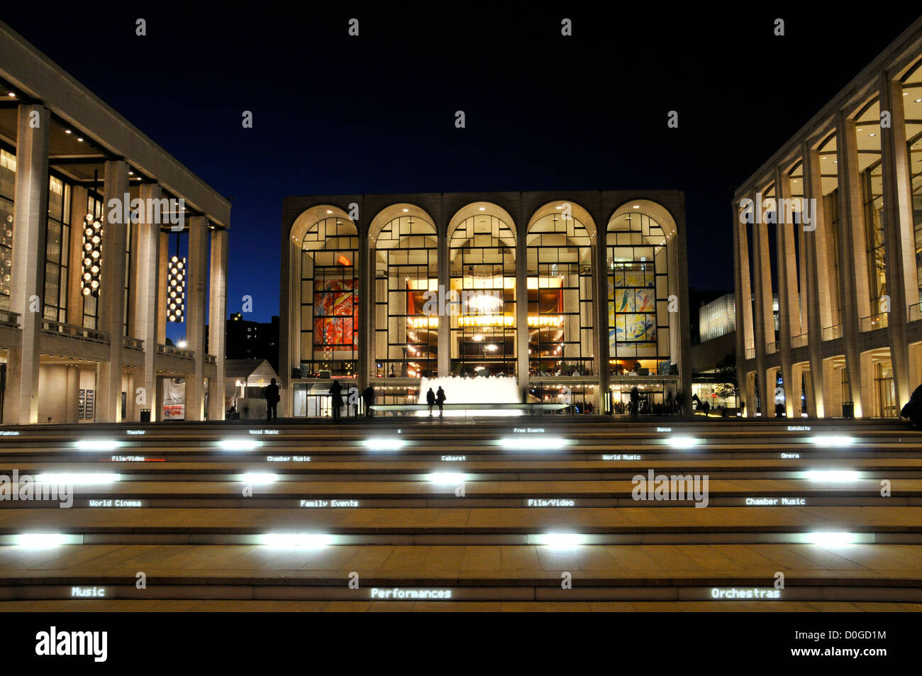 The renovated Lincoln Center Performing Arts center, Broadway, New York City, USA, - Stock Image