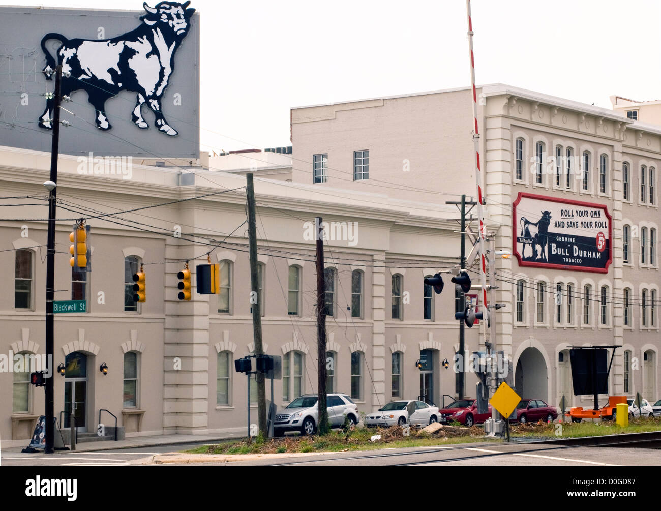 Bull Durham signs / billboards in Durham North Carolina - Stock Image