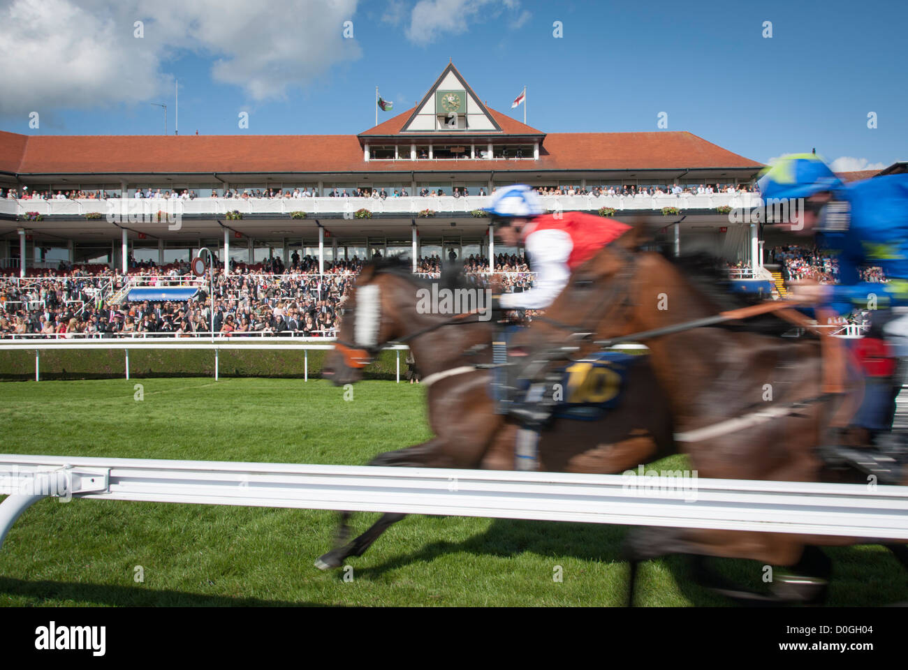 Chester Racecourse, known as the Roodee, oldest course for horse racing races - Stock Image