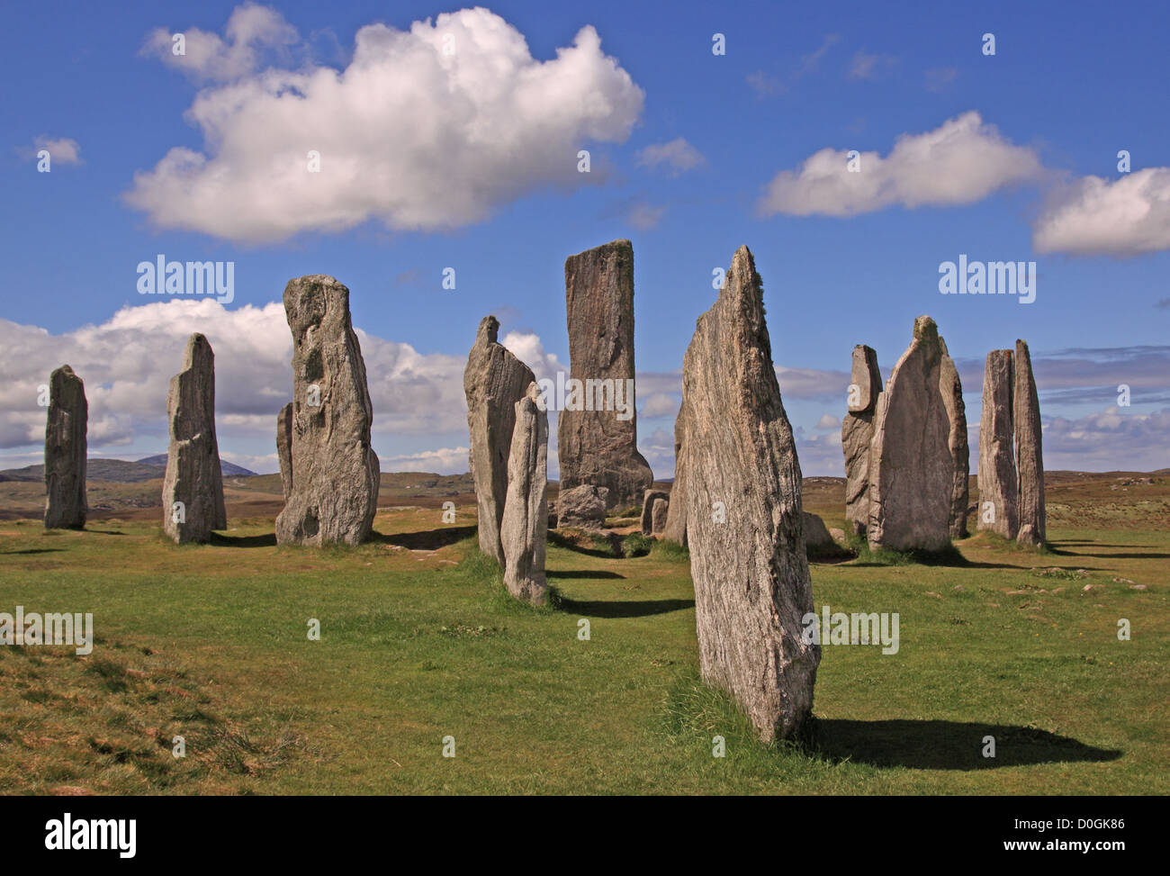UK Scotland Outer Hebrides Isle of Lewis Callanish Standing Stones - Stock Image