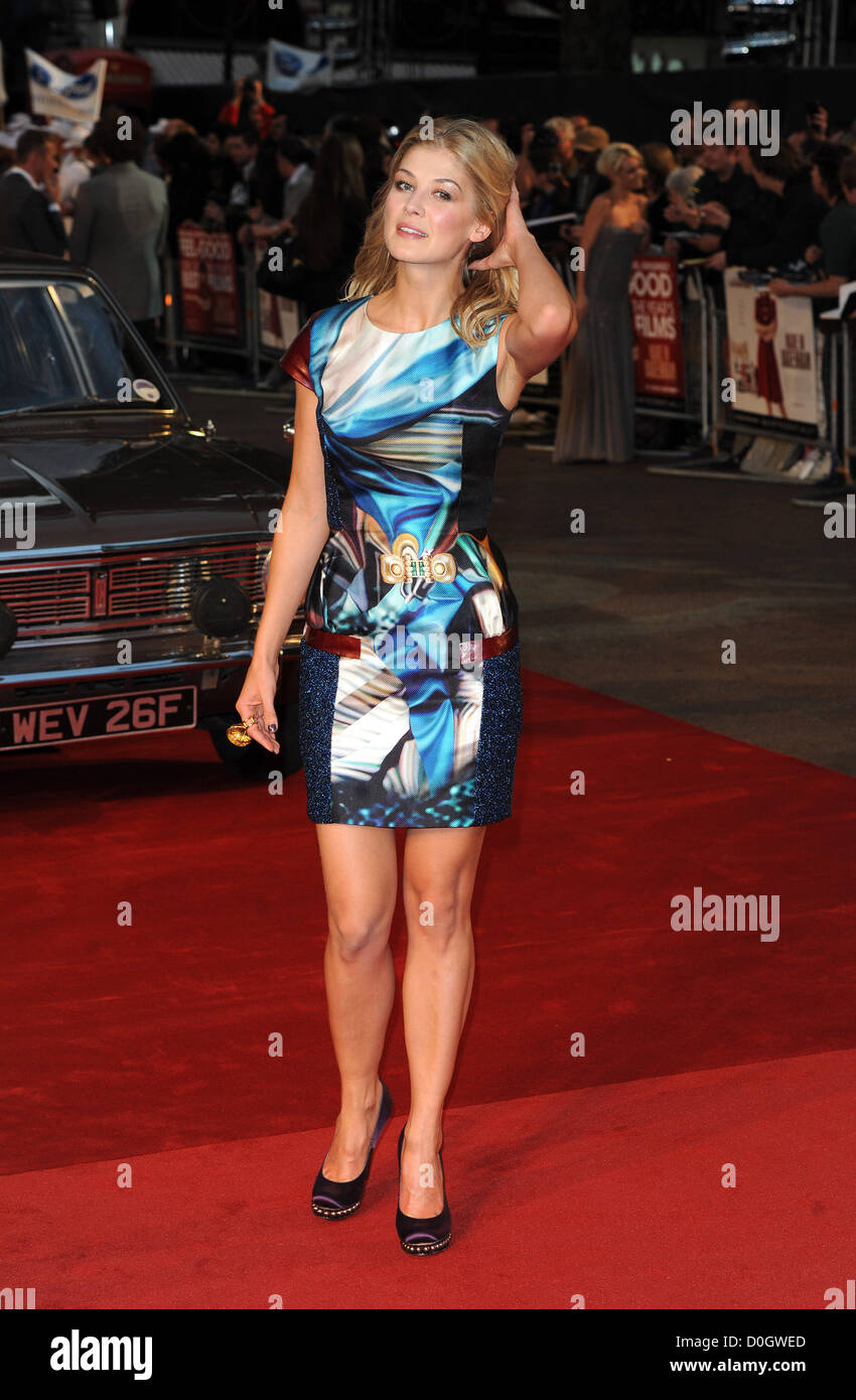 Rosamund Pike Made In Dagenham - UK film premiere held at the Odeon Leicester Square. London, England - Stock Image