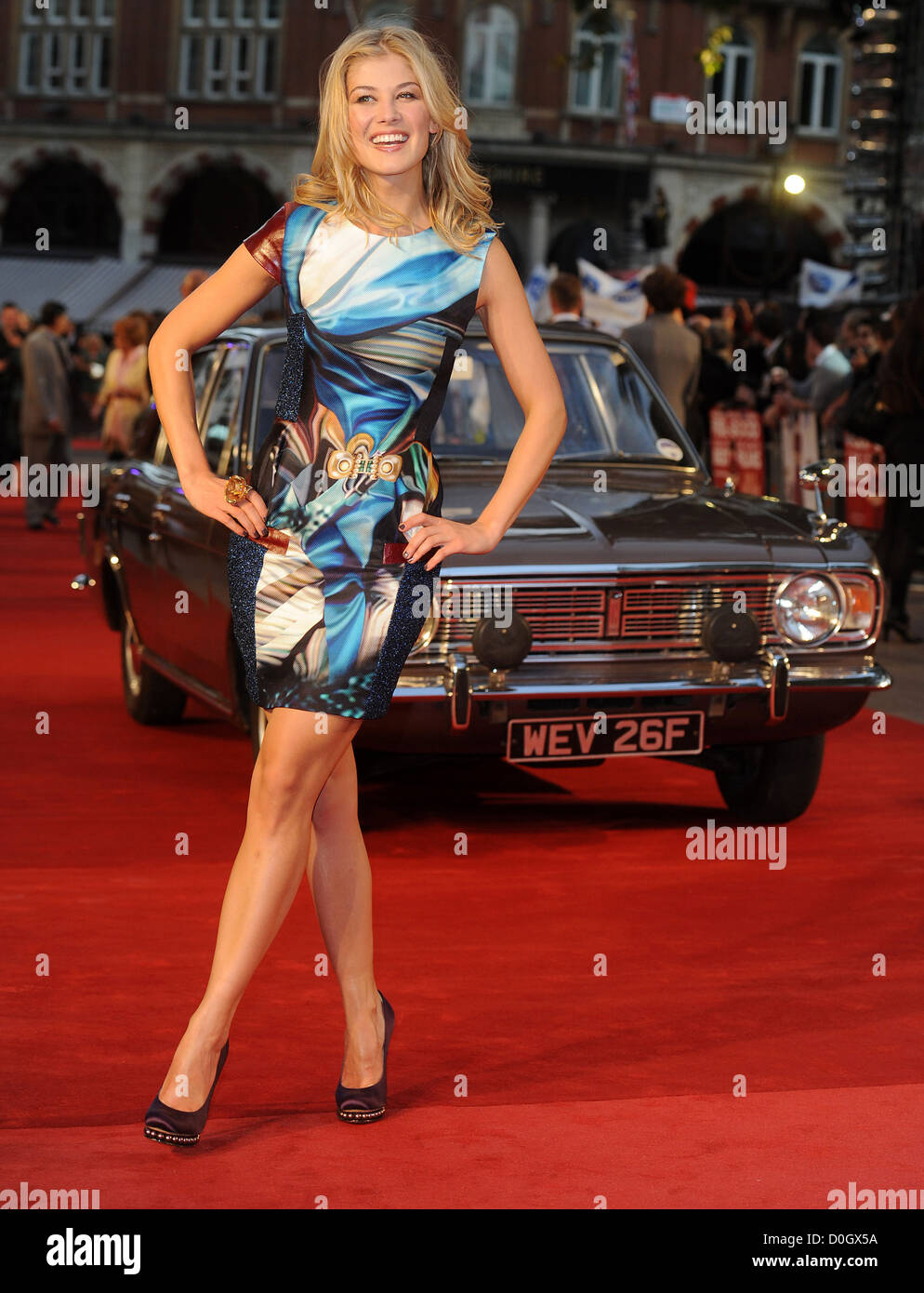 Rosamund Pike at the premiere of Made In Dagenham at Odeon, Leicester Square, London, England- 20.09.10 - Stock Image