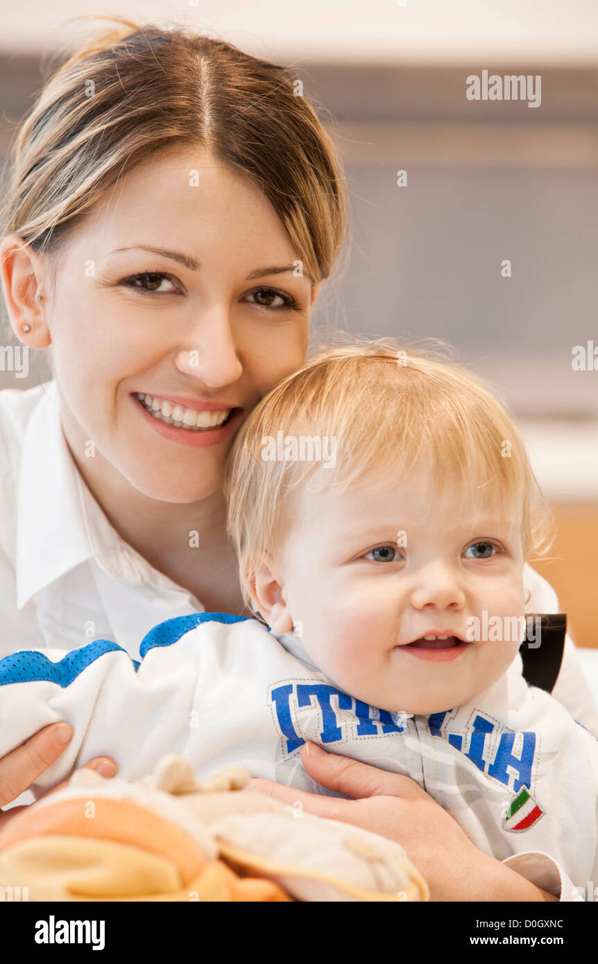 mother and son - Stock Image