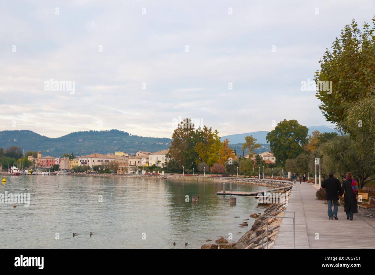 Bardelino town Lago di Garda the Garda Lake the Veneto region Italy Europe Stock Photo