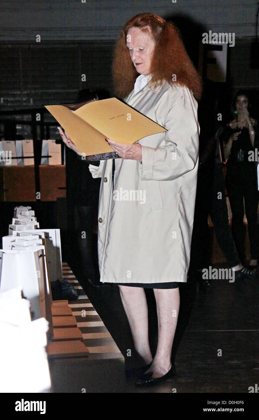 Grace Coddington Mercedes-Benz IMG New York Fashion Week Spring/Summer Marc JacobsBackstage New York City USA - Stock Image
