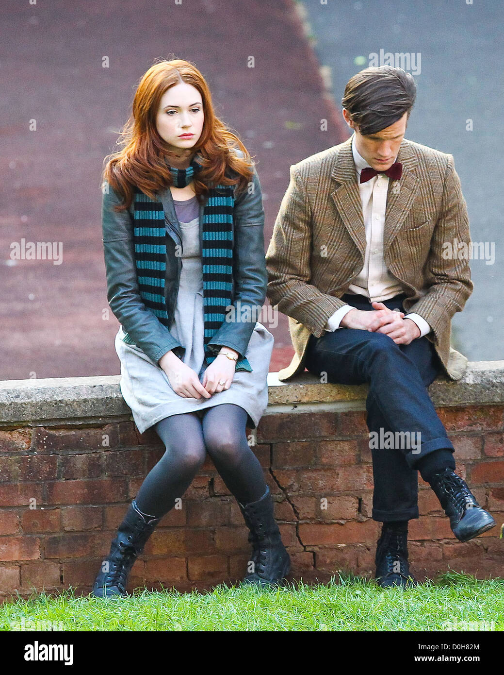 Matt Smith and Karen Gillan 'Doctor Who' filming on ...