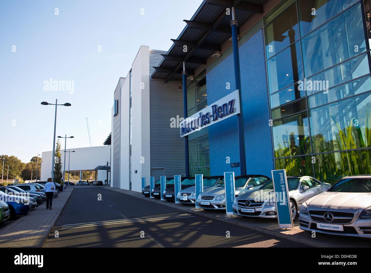 Mercedes-Benz World, Brooklands, Weybridge, Surrey, England, UK Stock Photo