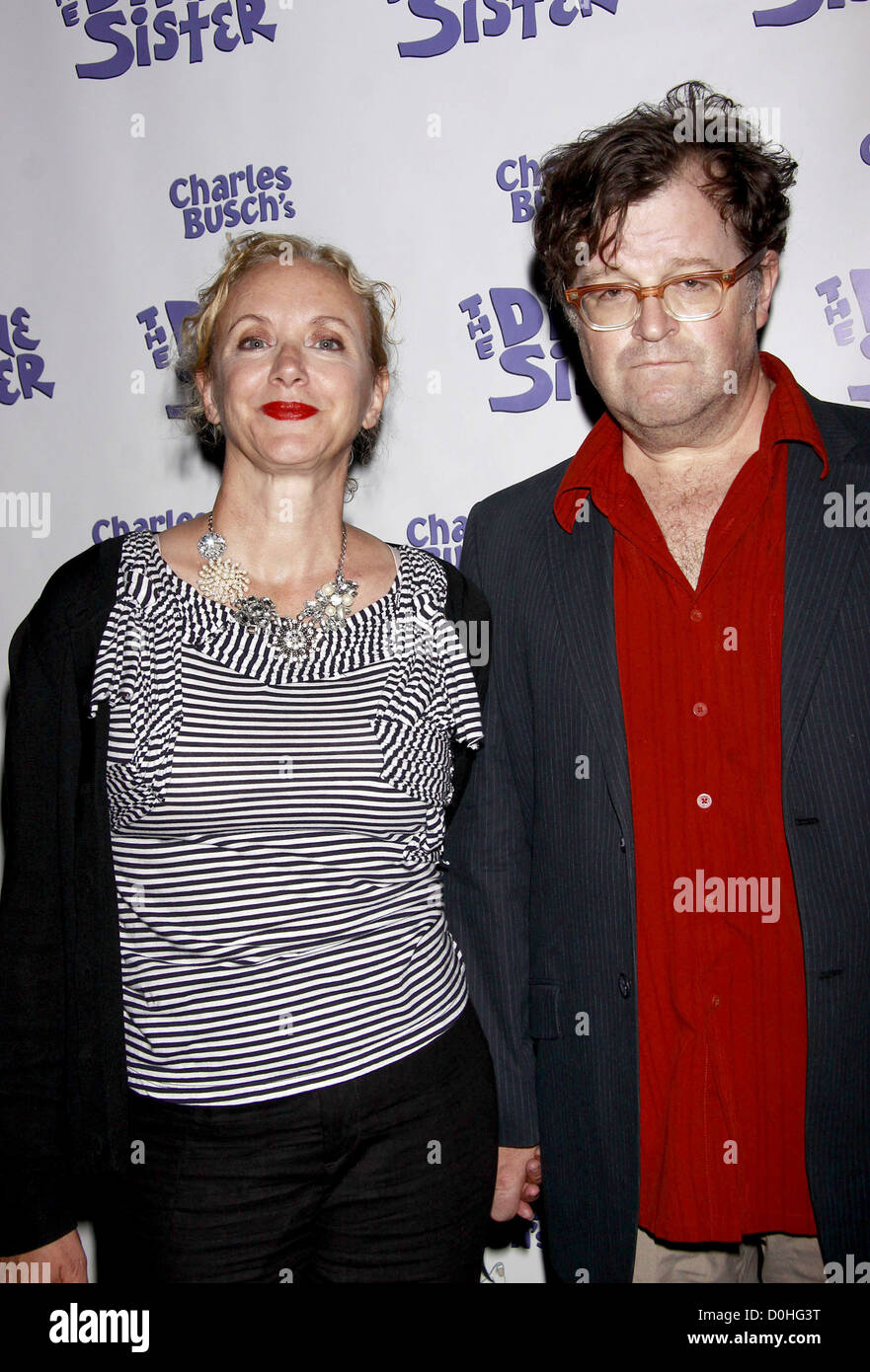 J. Smith-Cameron and Kenneth Lonergan The opening night of the Off-Broadway production of 'Charles Busch's - Stock Image