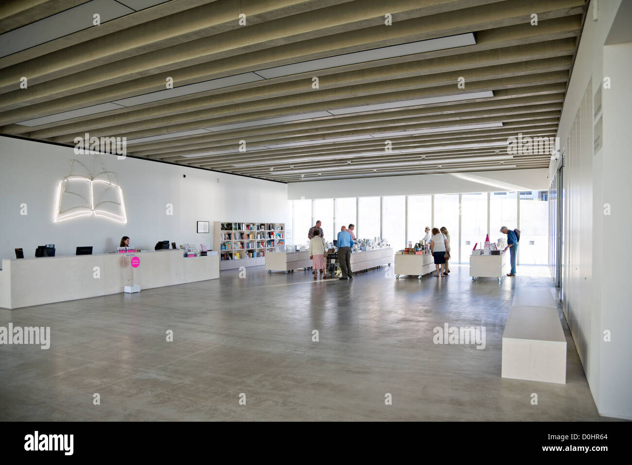 An interior view of the New Turner Gallery in Margate. Stock Photo